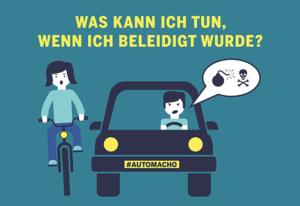 Autofahrer beschimmpft Fahrradfahrerin