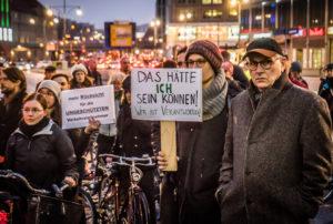 Mahnwache für eine getötete Radfahrerin, Alexanderplatz, 21.2.2019