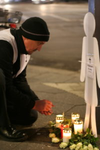 Mahnwache für getötete Fußgängerin, 07.02.2019