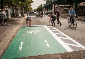 Tag der Verkehrssicherheit, 15.6.2019. Aktion an der Schönhauser Allee
