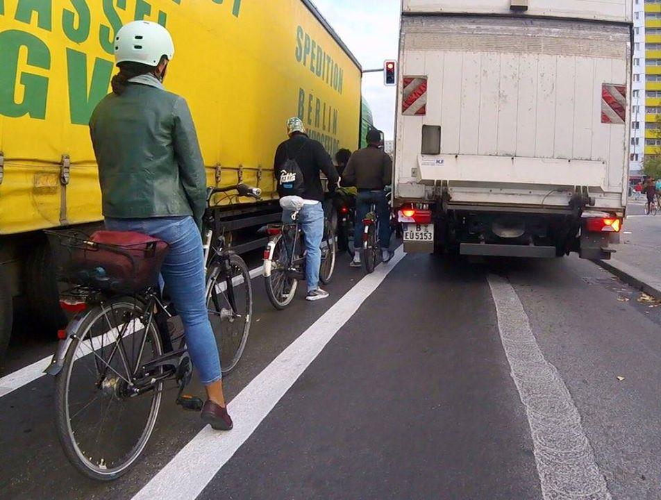 Fahrradweiche Brückenstraße