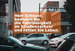 Offener Brief an Scheuer