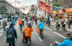 Fahrraddemonstration Frankfurter Allee